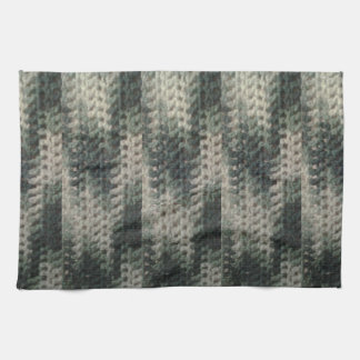green white chevron zigzag pattern tea towel