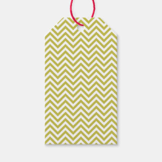 Green/White Chevrons Gift Tags