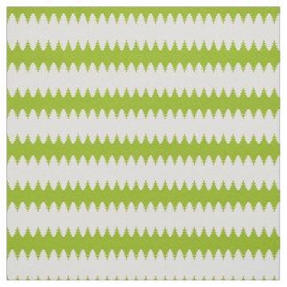 Green White Christmas Tree Pattern Fabric