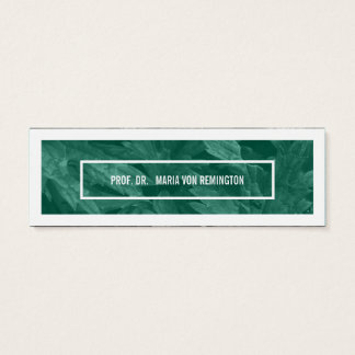 Green White Decadent Mini Business Card