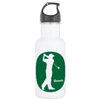 Green White Golfer Golf Personalized 532 Ml Water Bottle