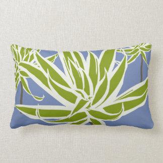 Green White Leaves Decor#13a Modern Lumbar Pillow