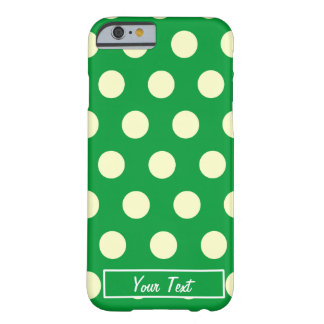 Green/White Polka Dots - Barely There iPhone 6 Case