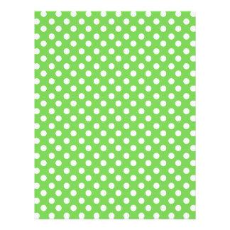 Green white polka dots flyer