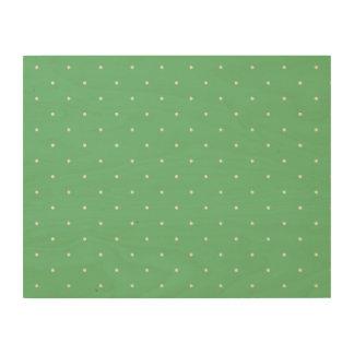Green & White Polka Dots Wood Print