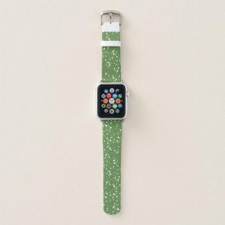 Green & White Splatter Pattern Apple Watch Band