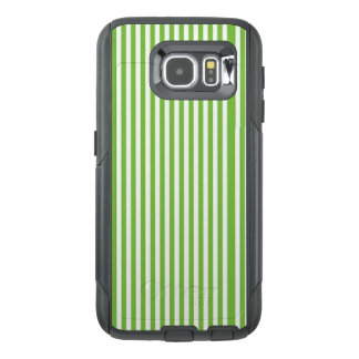 Green & White Stripe Cell Phone Case