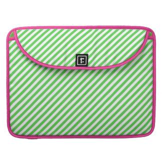Green White Stripes MacBook Pro Sleeve