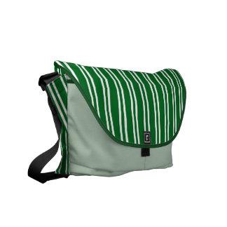 Green White Stripy Rickshaw Bag Commuter Bags