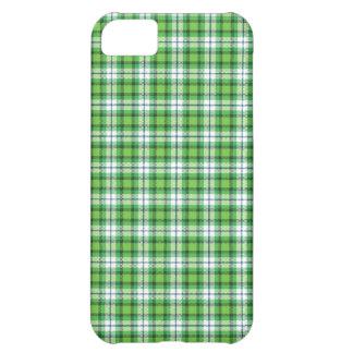 Green white tartan plaid iPhone 5C case