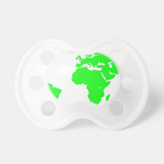 Green White World Map Baby Pacifier