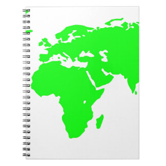 Green White World Map Notebooks