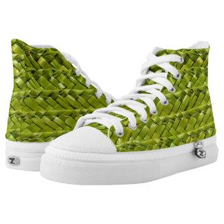 Green Wicker High Tops