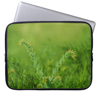 Green Wild Floral Laptop Sleeve