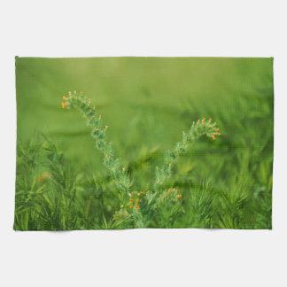 Green Wild Plant Tea Towel