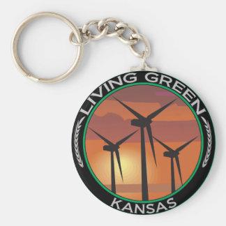 Green Wind Kansas Key Ring
