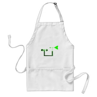 Green Wind Speed and Weather Vane Adult Apron