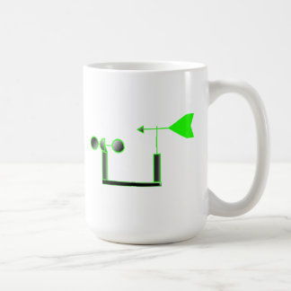 Green Wind Speed and Weather Vane Mugs