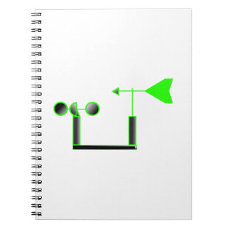 Green Wind Speed and Weather Vane Note Book