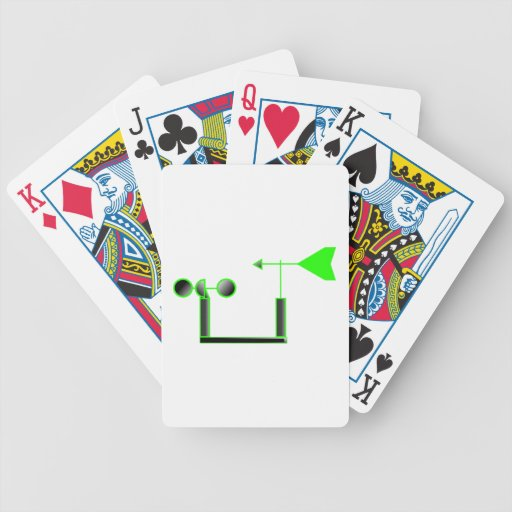 Green Wind Speed and Weather Vane Card Deck