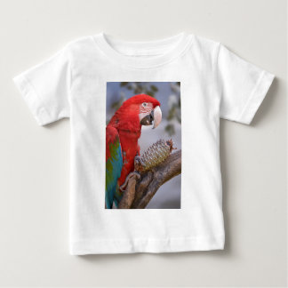 Green-winged macaw with pine cone baby T-Shirt