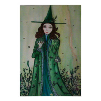 Green Witch Poster