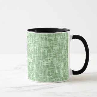 Green with cream crosshatching