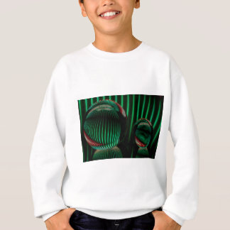 Green with red in the glass sweatshirt