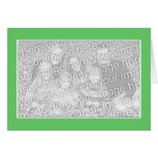 Green with White Border (photo frame) Greeting Card
