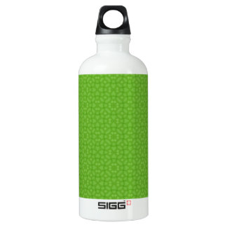 Green wood abstract pattern water bottle