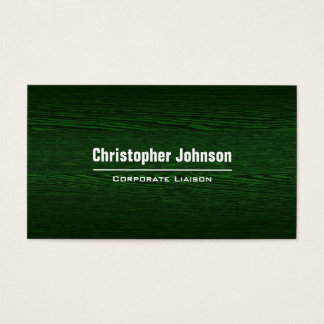 Green Wood Modern Professional Business Card