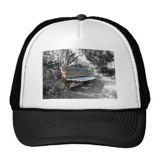 Green Wooden Bench Hat