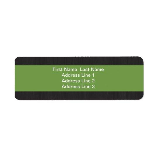 Green & Woodgrain Professional Return Address Return Address Label
