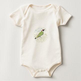 Green Woodpecker Baby Bodysuit