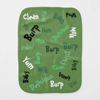 Green Word Play Burp Cloth