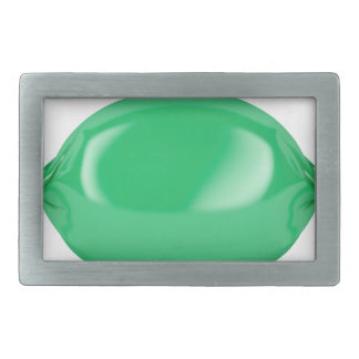 Green wrapped hard candy belt buckle