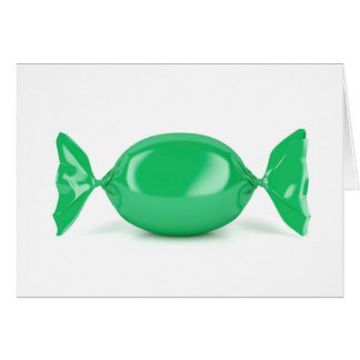Green wrapped hard candy card