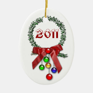Green Wreath 2011 Christmas Ornament