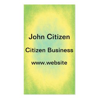 Green, yellow and blue abstract texture business card template