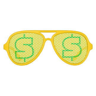 $ Green Yellow Aviator Party Shades, Sunglass Aviator Sunglasses