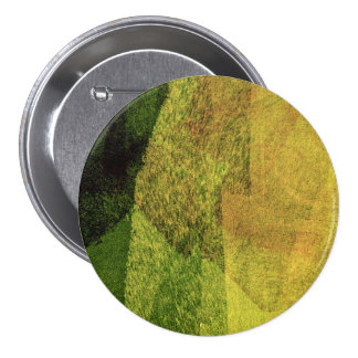 Green yellow black nature forest abstract painting 7.5 cm round badge