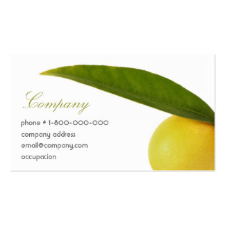 Green & Yellow Business Cards