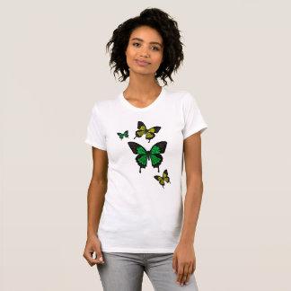 Green/yellow Butterflies,  Swallow tail Butterfly T-Shirt
