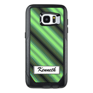 Green & Yellow Checkered Tubes by Kenneth Yoncich OtterBox Samsung Galaxy S7 Edge Case