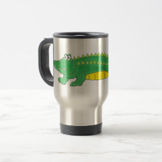Green Yellow Gator Alligator Croc Crocodile Animal Travel Mug
