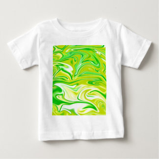 Green Yellow Marbleized Spring, Baby T-Shirt