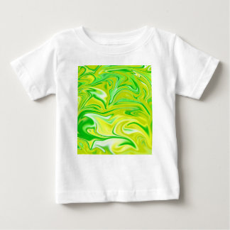 Green Yellow Marbleized Spring,_ Baby T-Shirt