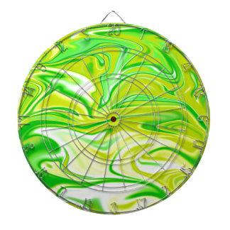 Green_Yellow Marbleized Spring,_ Dartboard