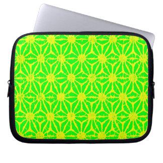 Green & Yellow Pinwheels Computer Laptop Sleeve