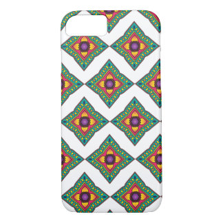 Green, Yellow & Purple Diamond Pattern iPhone 7 iPhone 7 Case